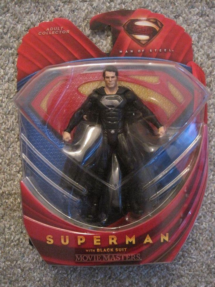 DC UNIVERSE JLA MAN OF STEEL BATMAN V SUPERMAN BLACK SUIT MOVIE MASTERS FIGURE…