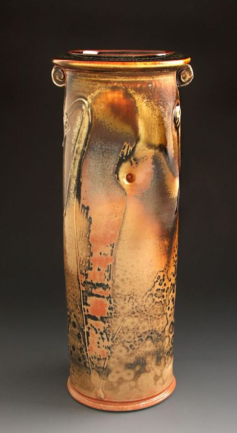 Leopard Spot Shino Vase by Tom Coleman 2012