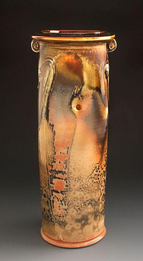 Leopard Spot Shino Vase by Tom Coleman 2012