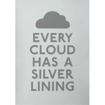 Every Cloud Print - Silver