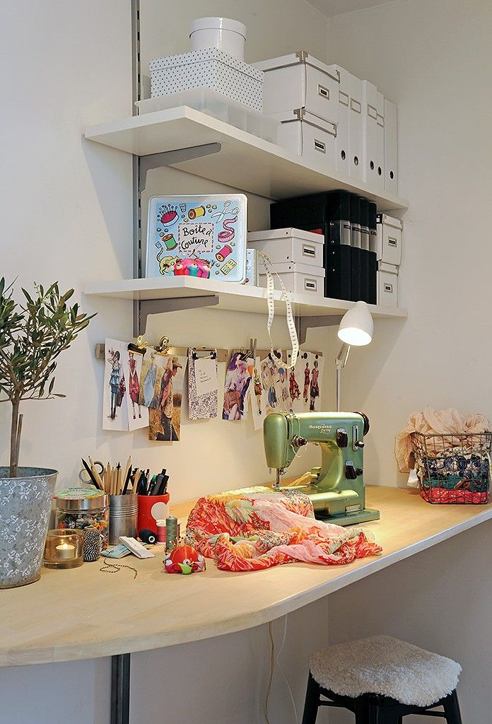 Sewing room idea I could put this in my laundry room
