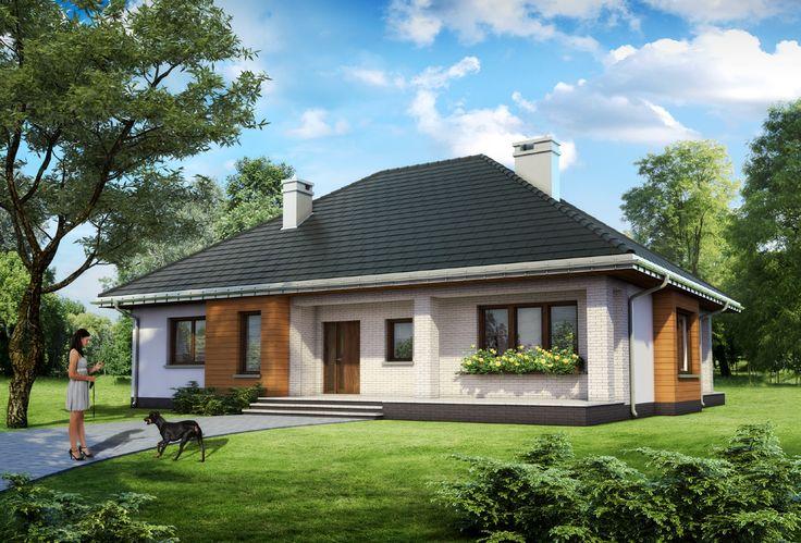 Projekt domu Regina Rex - dom parterowy, z trzema sypialniami i przestronnym salonem