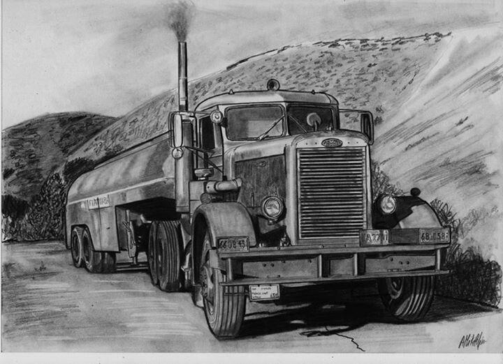 Peterbilt semi truck drawings