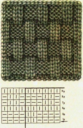 Knit basket weave
