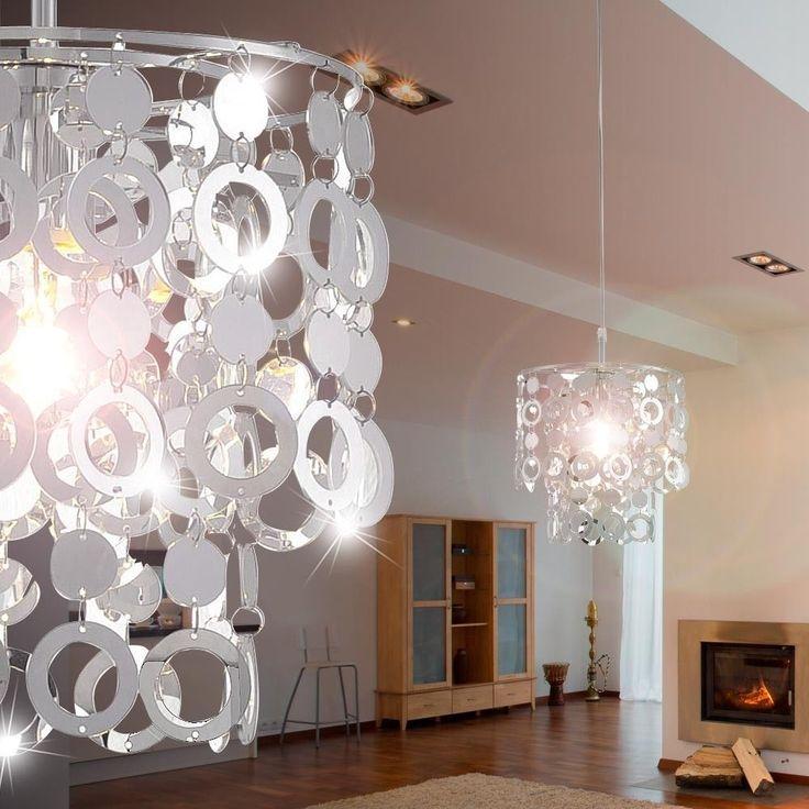 Decken Pendel Hnge Leuchte Luxus Beleuchtung Chrom 1xE27 Wohnzimmer Lampe Ringe