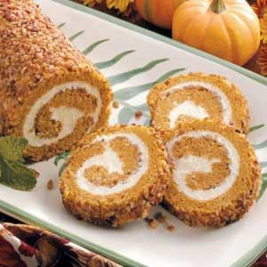 ~Recipe~ Pumpkin Roll  This is almost my recipe & is yummy!