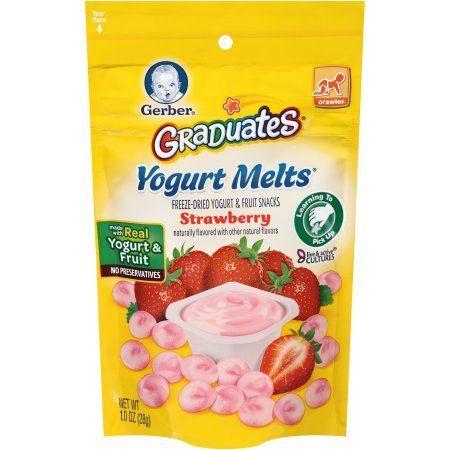 Gerber Graduates Yogurt Melts Strawberry Freeze-Dried Yogurt & Fruit Snacks, 1 oz