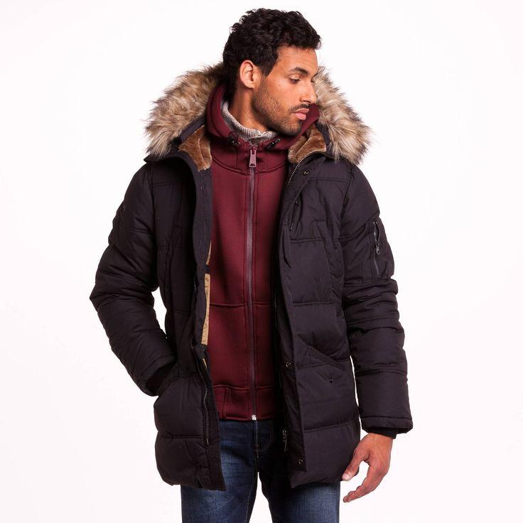 Doudoune homme 3 Suisses, achat Doudoune à capuche zippée multipoches Snork Schott prix promo 3Suisses 225.00 €