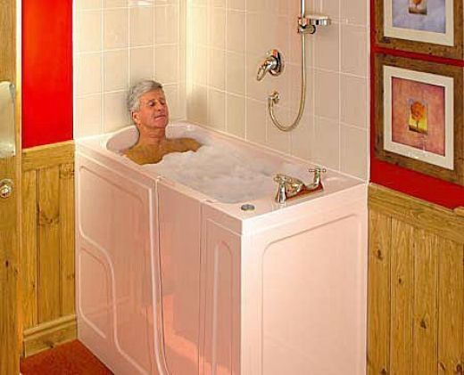 Latest trends small bathtubs with pics and videos walk for Big and tall walk in tubs