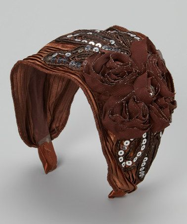 Another great find on #zulily! Brown Floral Sequin Fascinator Headband by Pretty Angel #zulilyfinds