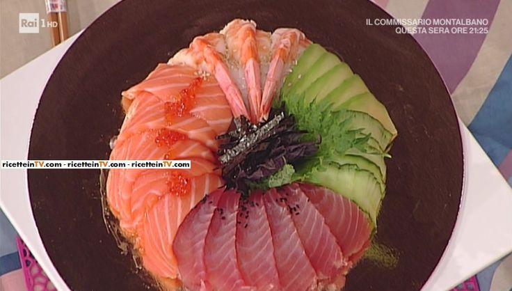 """La ricetta della sushi cake di Hiro Shoda del 1 maggio 2017, a """"La prova del cuoco""""."""