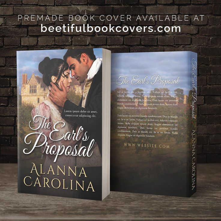 The Earl's Proposal - Historical Romance Premade Book Cover For Sale @ Beetiful Book Covers #bookcover #premade #premadebookcover #historicalromance #design #beetiful #regency
