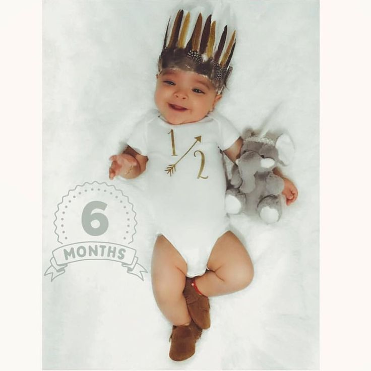 This little prince is 6 months old  Happy half birthday to your sweet boy @mrs.chevere  Created with artwork from our premium 'Badges by Month' collection. Get the Little Nugget app to create yours  link in our profile. Tag #LittleNuggetCo and @LittleNuggetCo to be featured.