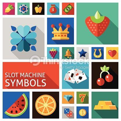 Vector Art : Slot machine symbols set