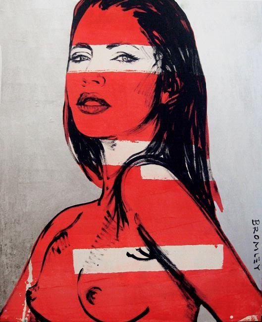 David BROMLEY (b.1960) - CHEYENNE - (red on silver)