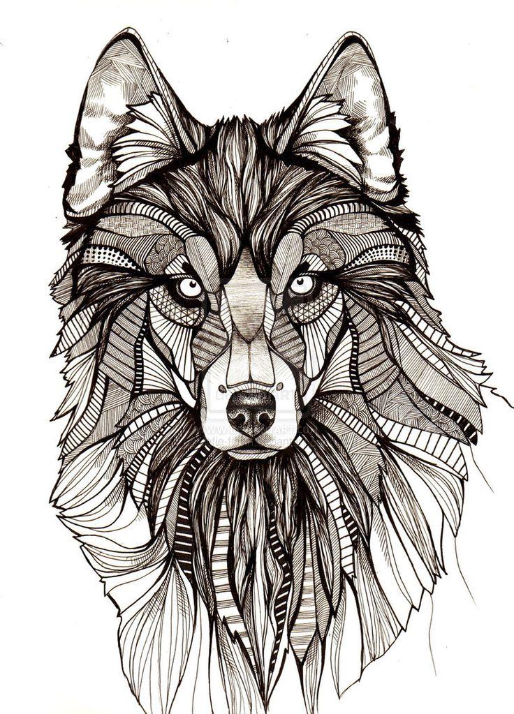 wolf drawings - Buscar con Google