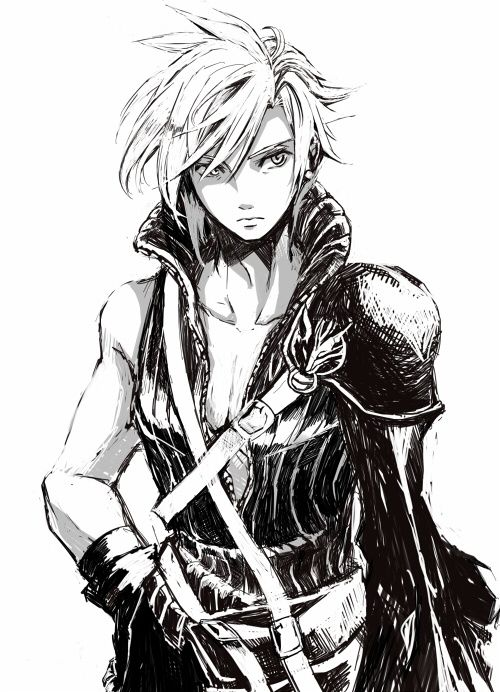 Cloud Strife. Looking more like a girl than in most pictures in which he wears a dress.