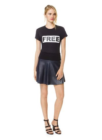 Wilfred Free Faux Leather Skirt $35