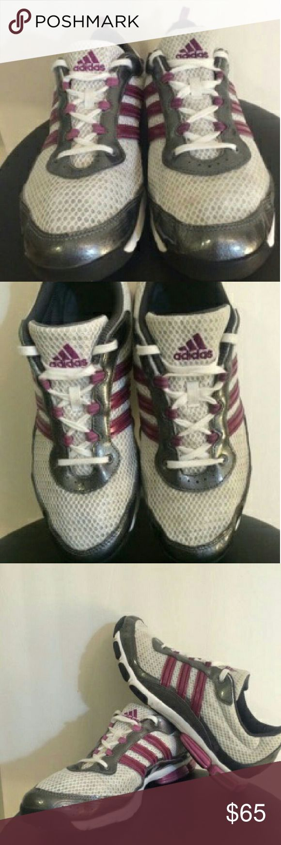 Women's Purple & Gray  ADIDAS!!! Women's Adidas.. torsion system... purple & gray ... Foam Fit.. in excellent condition... Thread still have a long life time left.. clean ... nice. adidas Shoes Sneakers