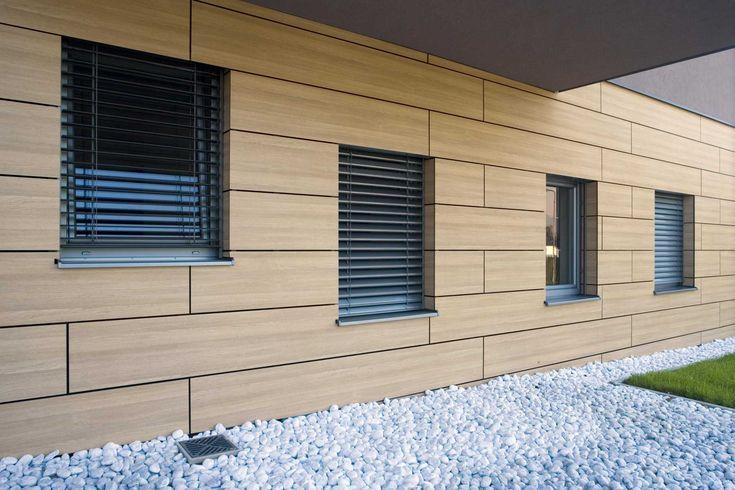 Villa ostrozno trespa ext rieur bardage pinterest for Facade exterieur villa