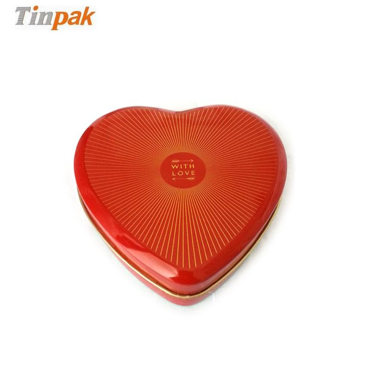 This heart tin box with shiny gold shows the best love to your loved one. Take one with chocolate inside is the best gift in the world.