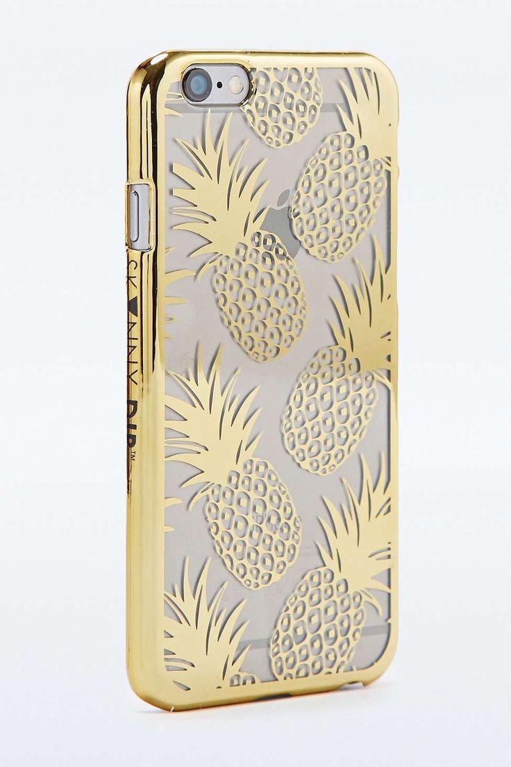 Skinnydip - Coque dorée motif ananas pour iPhone 6