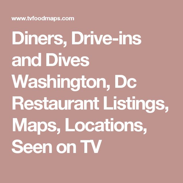 Washington | Restaurants : Food Network | Food Network