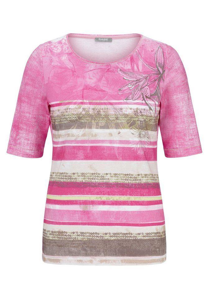 3bf03fba233905 Rabe T-Shirt mit Allover-Print und Ziersteinen für 49