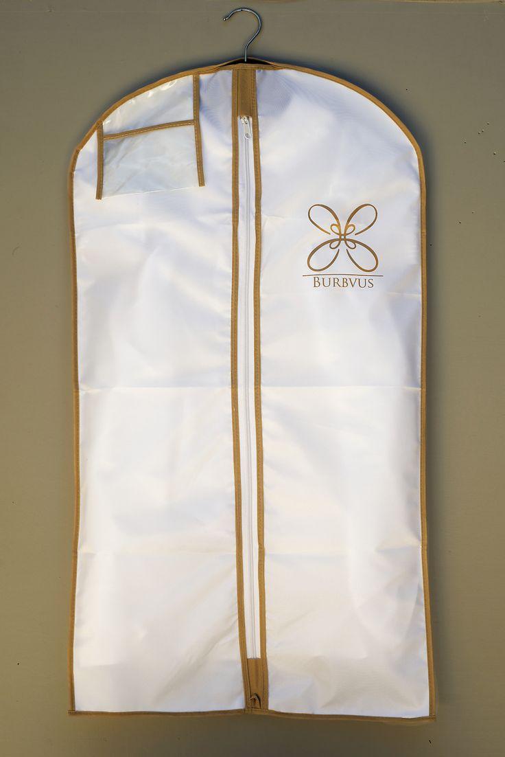 Portatraje para ropones Burbvus. Color blanco