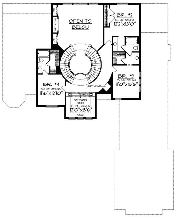 184 best house plans images on pinterest tuscan house for 2 story house plans with curved staircase