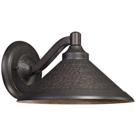 kirkham bronze 11 wide dark sky led outdoor wall light