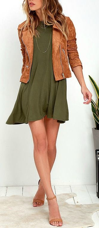 Trend To Wear: Tupelo Honey Olive Green Dress