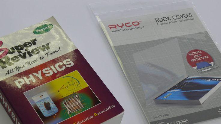 Rhino Self-Adhesive Plastic Book Covers (Medium - 3 pack)