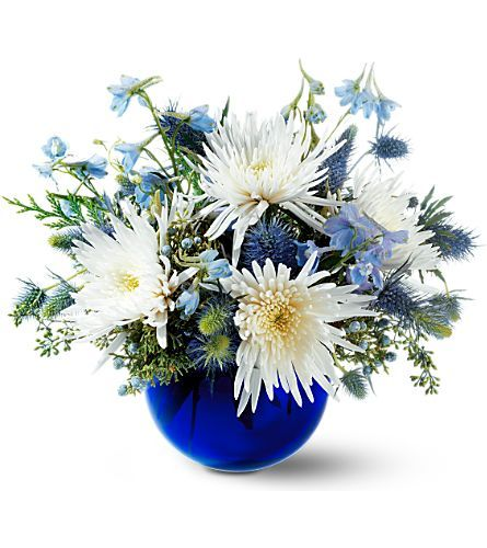 1000+ Ideas About Blue Flower Arrangements On Pinterest