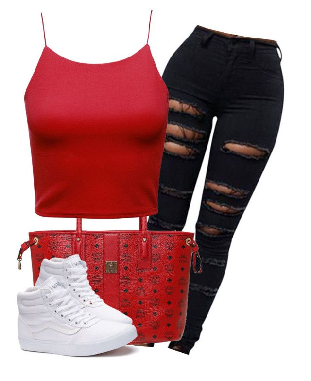 Untitled #361 by tionnaalsina on Polyvore featuring polyvore fashion style Vans MCM clothing