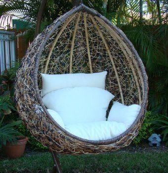 comfy!: Idea, Egg Swing, Swings, Swing Chairs, Outdoor, Backyard, Garden, Egg Chair