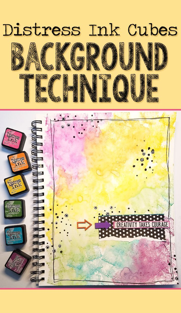 EASY Distress Ink Background Technique For Beginners - Mixed Media Art Journal