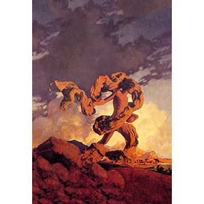 Buyenlarge 'Cadmus Sowing the Dragon's Teeth' by Maxfield Parrish Painting Print