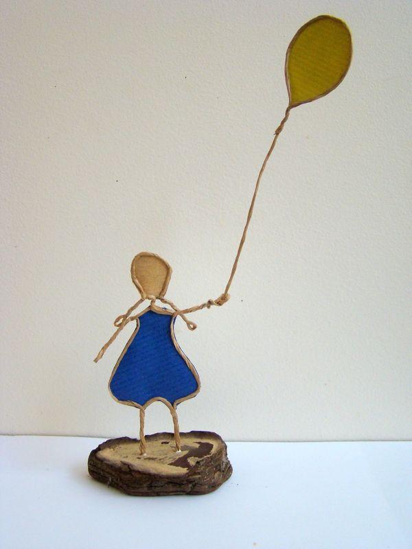 Petite fille au ballon vert – La fée Tonnante