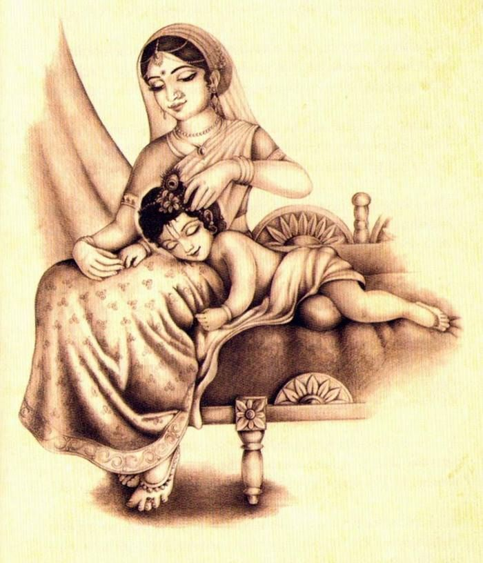 little Krishna sleeps…