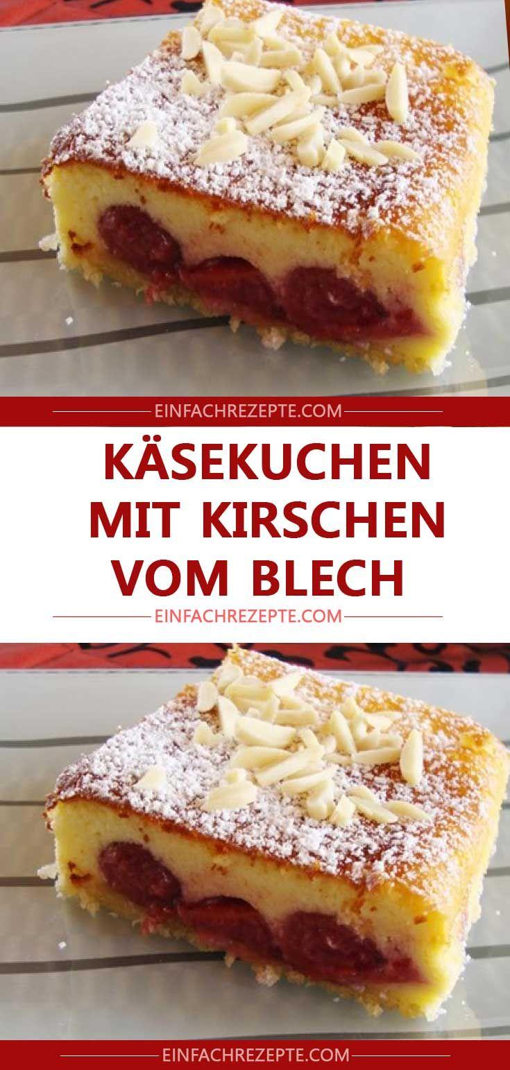 Kasekuchen Mit Kirschen Vom Blech Kasekuchen Mit Kirschen Apfelkuchen Rezept Lecker Blechkuchen