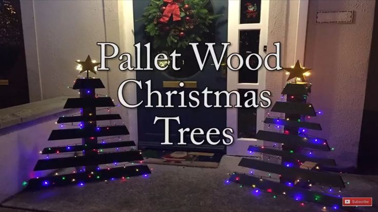 How to make Two Pallet Wood Christmas Trees From One Pallet!
