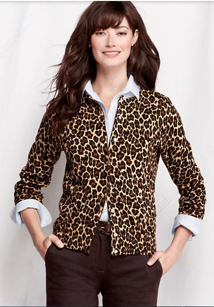 February 18th Launch:Leopard Print Cardigan by Land's End,Available in sizes M/L/XL,0X/1X/2X and 3X