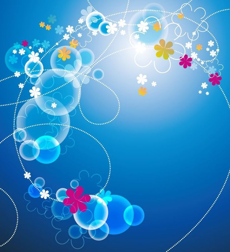 Cool Background Designs | Abstract Blue Floral Vector Background | Free Vector Graphics | All ...