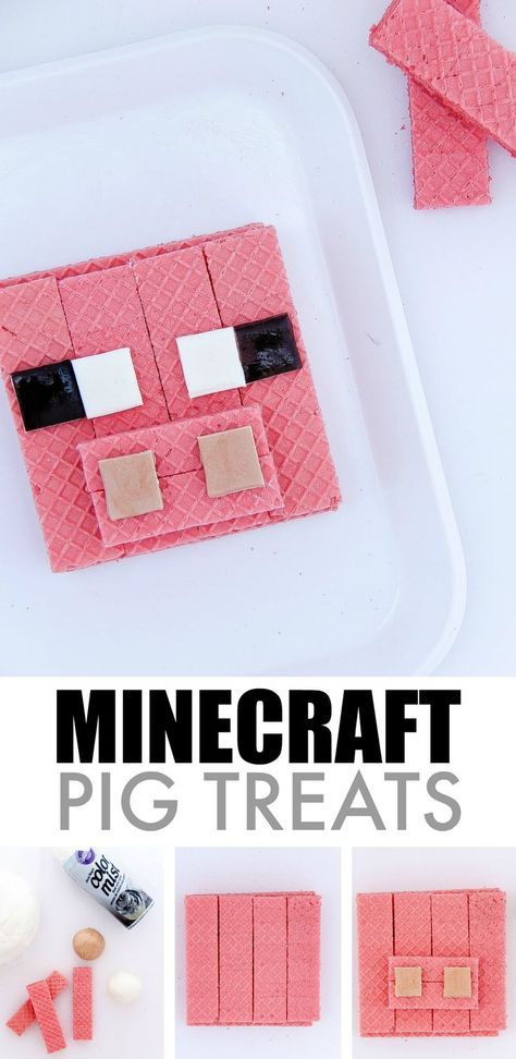 Easy Minecraft Pig treats to make for kids. Love these!