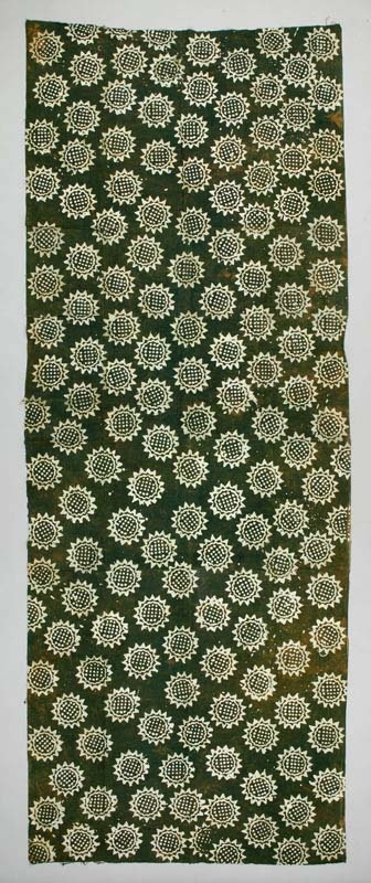 Africa | Batik, block printed cloth from Ghana | ca. mid to late 20th century | Cotton.