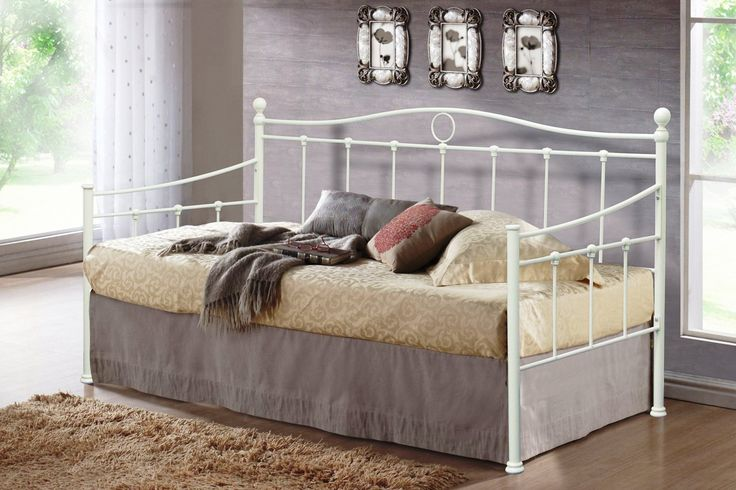 BEDZONLINE ESSINA 3FT METAL BED CREAM: Amazon.co.uk: Kitchen & Home