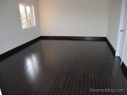 black baseboards…not sure