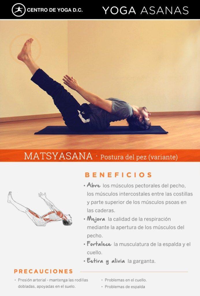Beneficios de la práctica de Yoga · MATSYASANA | Postura del pez por Diego Cano