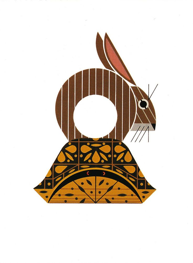 Charley Harper, the Tortoise and the Hare